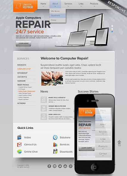 Website template 300111499