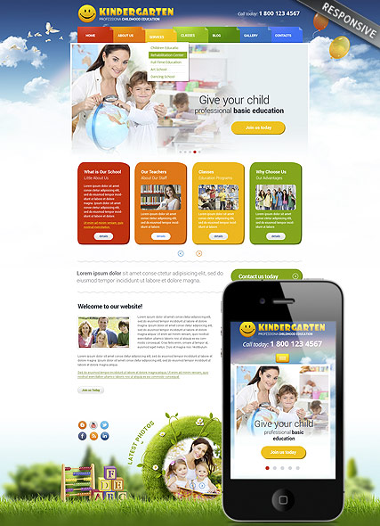 Website template 300111763