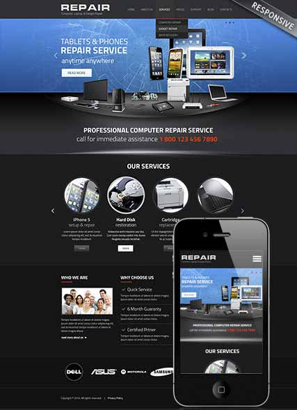 Website template 300111806