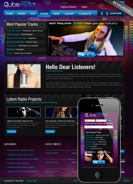 Website template 300111852
