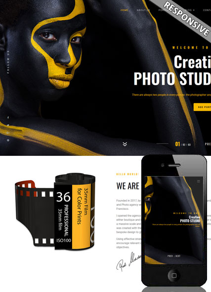 Photography bootstrap 4